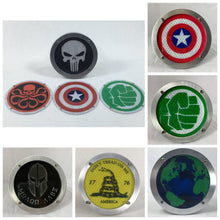 Round Reflective Hitch Cover Inserts