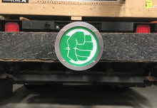 Hulk Fist Round Reflective Hitch Cover