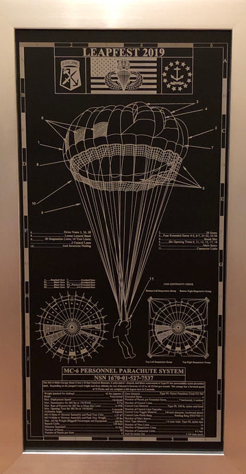 MC-6 Aluminum Parachute Blueprint