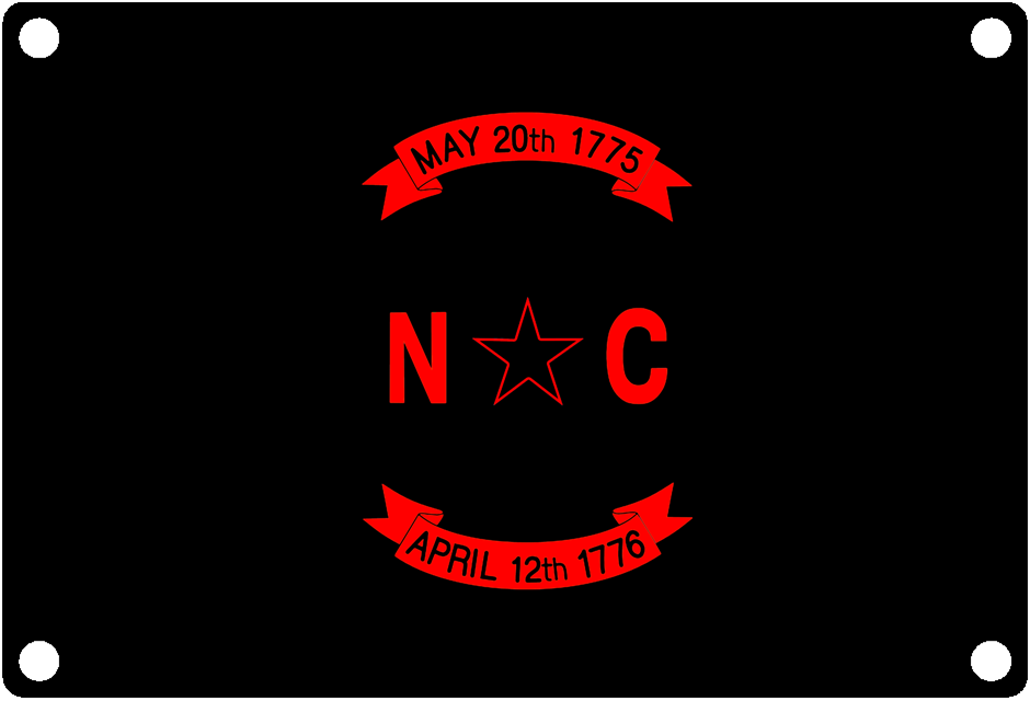 North Carolina State Flag: Left most portion
