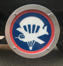 US Army Paratrooper and Glider Round Reflective Hitch Cover