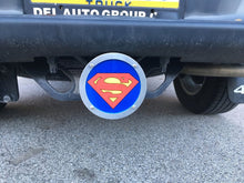 Superman Round Reflective Hitch Cover