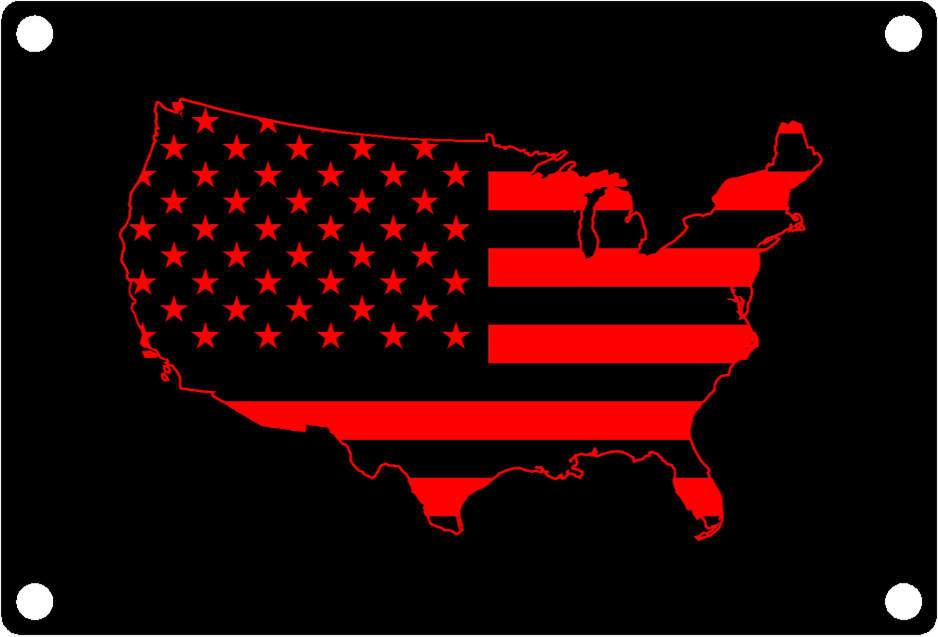 USA Map Outline with American Flag