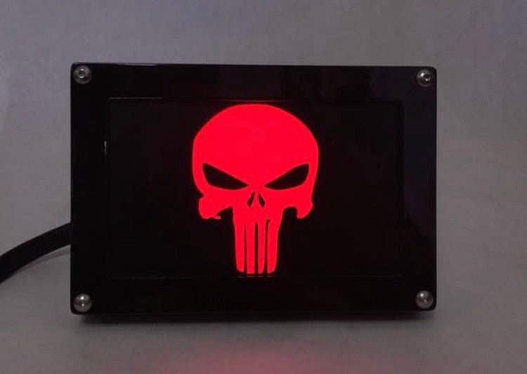 PUNISHER LED Hitch Cover Base with Matte Border