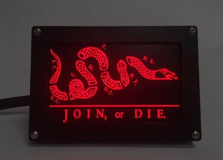 JOIN OR DIE LED Hitch Cover Base with Matte Border