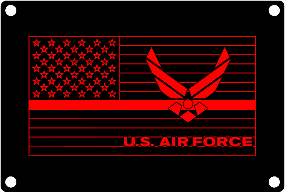 Thin Red Line USAF Service Flag