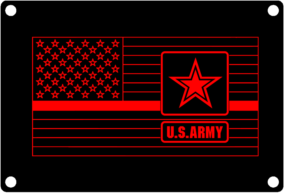 Thin Red Line US ARMY Service flag