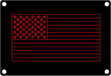 American Flag Wire Frame