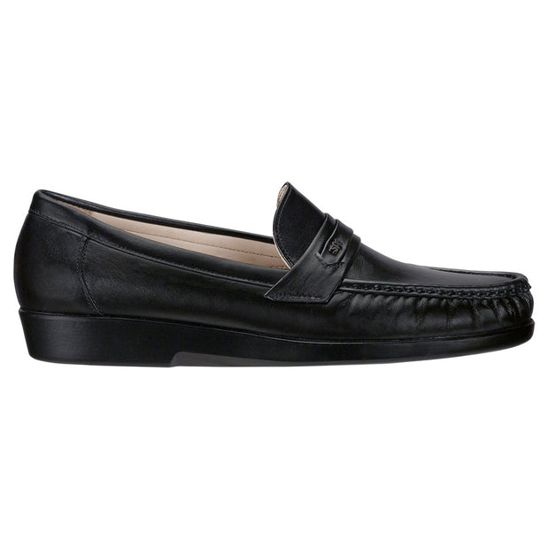 sas mens classic slip on dress moccasin ace black