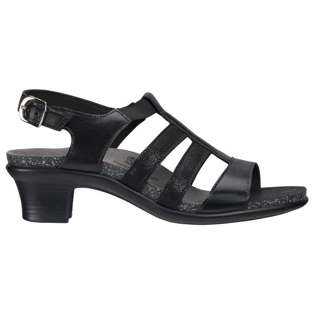 sas womens wedge sandal allegro black