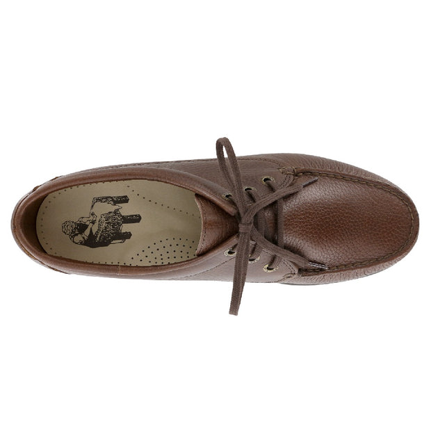 sas mens classic moccasin lace up amigo brown