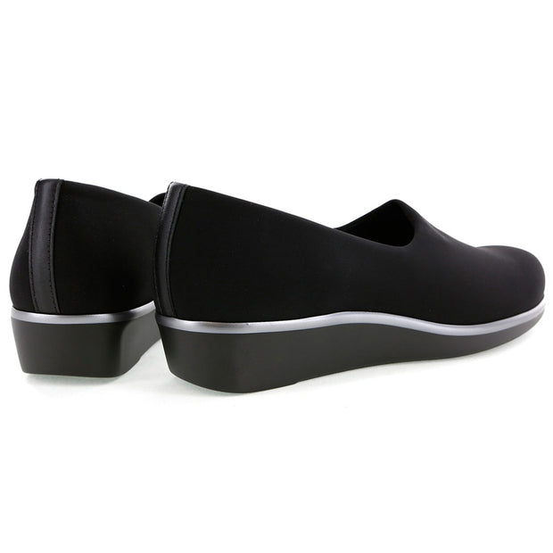 sas womens fabric slip on shoe bliss black