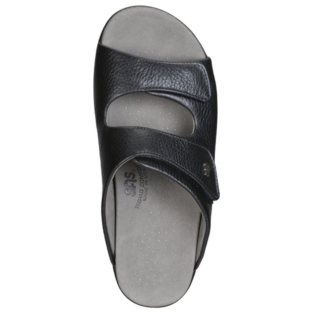 sas womens slide-on sandal cozy black