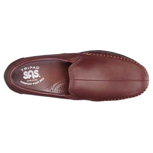 sas womens wide leather slip on wedge dream brown