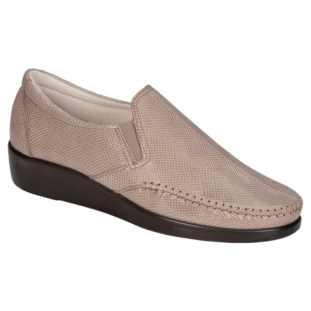 sas womens wide leather slip on wedge dream mushroom snake