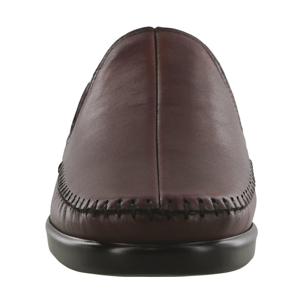 sas womens wide leather slip on wedge dream wine