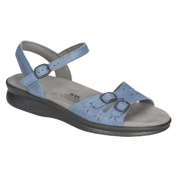sas womens soft footbed sandal duo denim