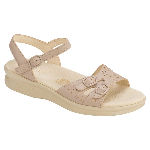 sas womens soft footbed sandal duo beige