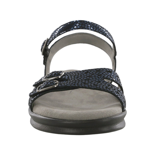 sas womens soft footbed sandal duo navy