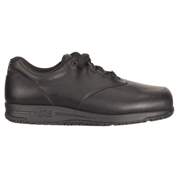 sas mens slip resistant work shoe guardian black