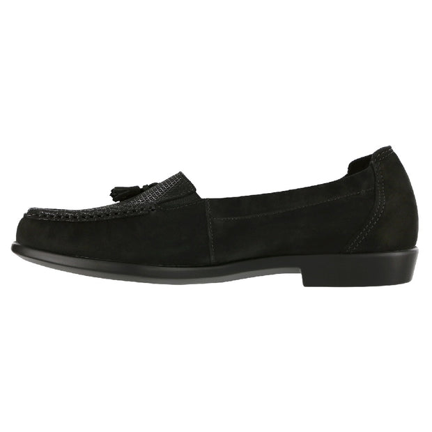 sas womens nubuck loafer hope onyx