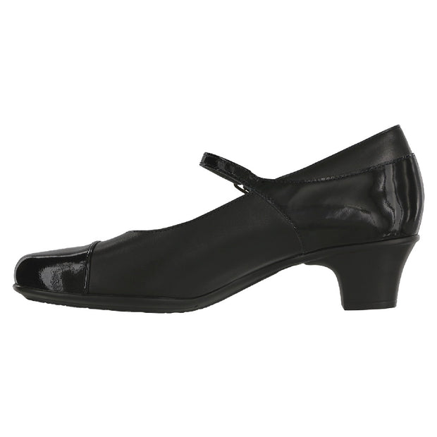 sas womens mary jane pump isabel black patent