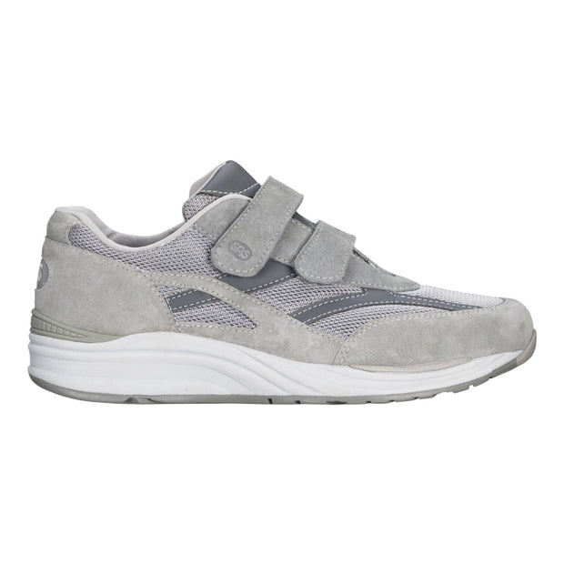 sas mens triple wide velcro sneaker jv mesh gray