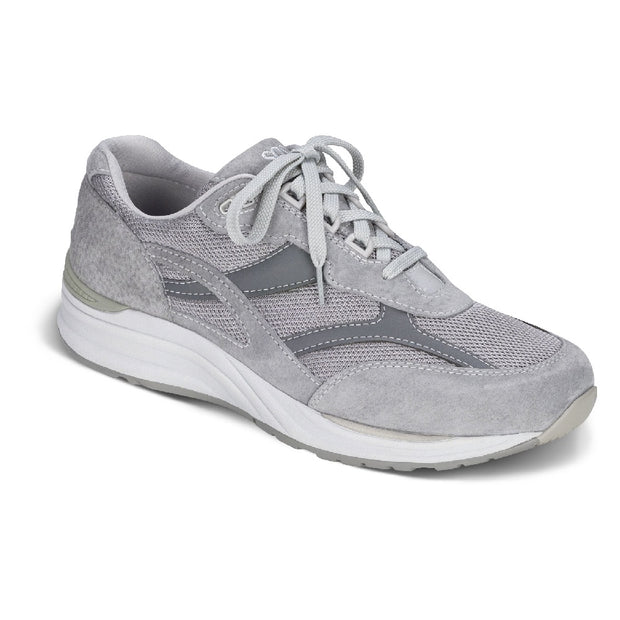 sas mens triple wide sneaker journey mesh gray