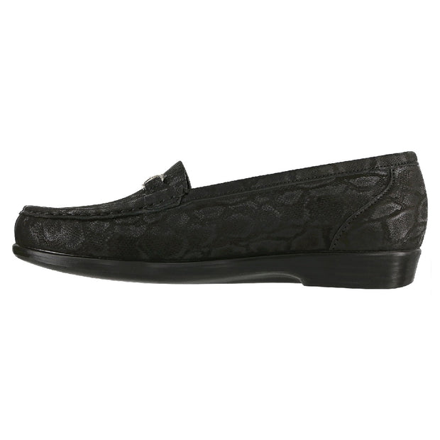 sas womens slip on loafer metro nero snake