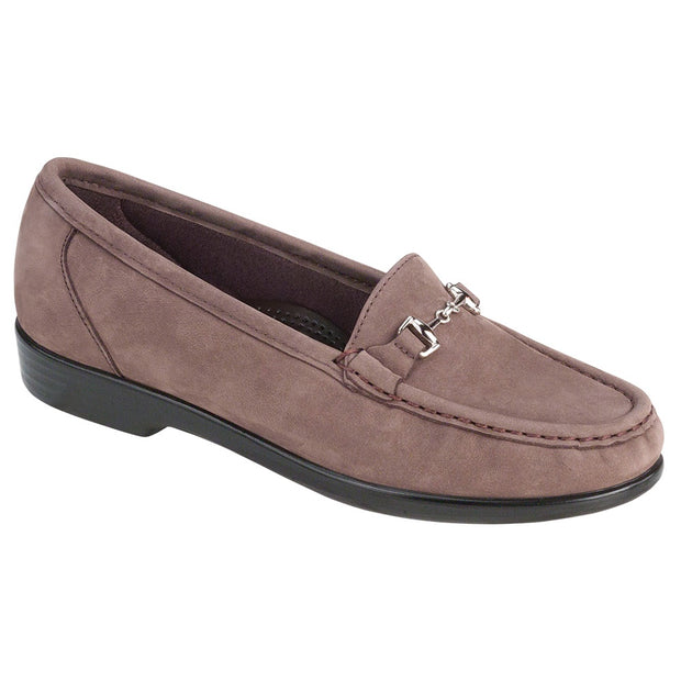sas womens slip on loafer metro truffle nubuck