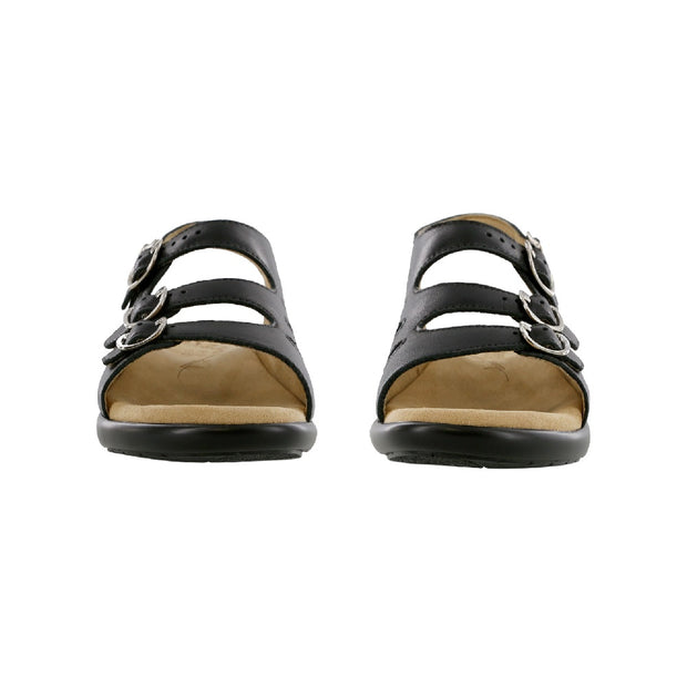 sas womens sandal with backstrap mystic black