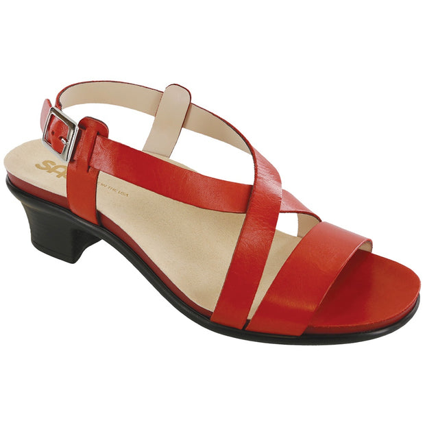 sas womens strappy evening sandal nouveau red