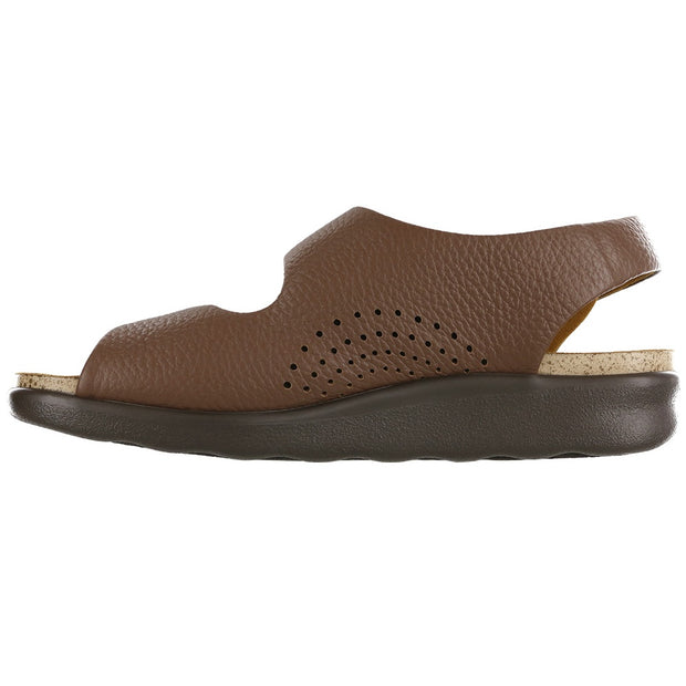 sas womens wide walking sandal relaxed brown