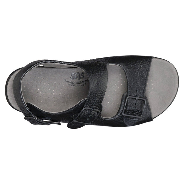 sas womens wide walking sandal relaxed black