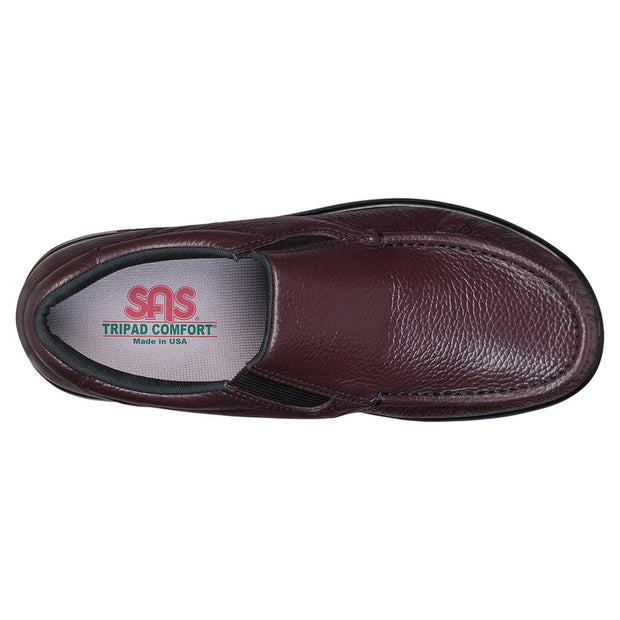 sas mens slip on moccasin side gore cordovan