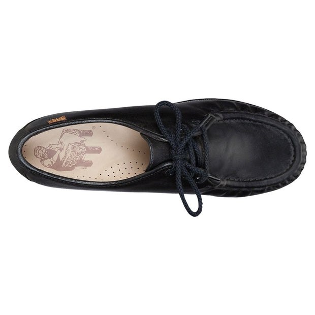 sas womens classic moccasin lace up siesta black