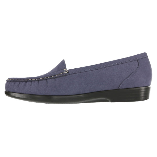 sas womens slip on moccasin loafer simplify navy nubuck