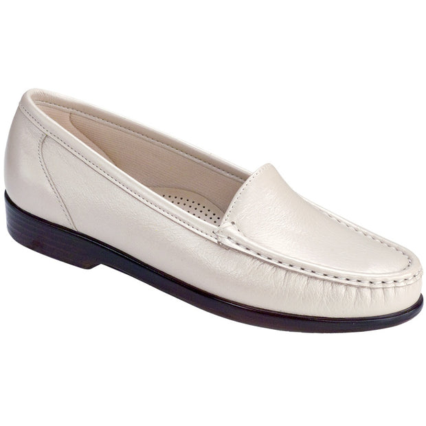 sas womens slip on moccasin loafer simplify pearl bone