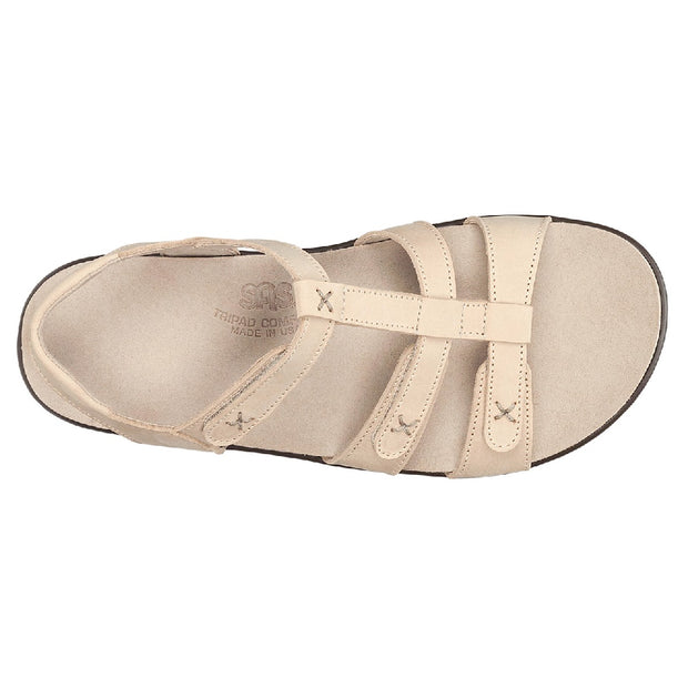 sas womens sandal with ankle strap sorrento linen