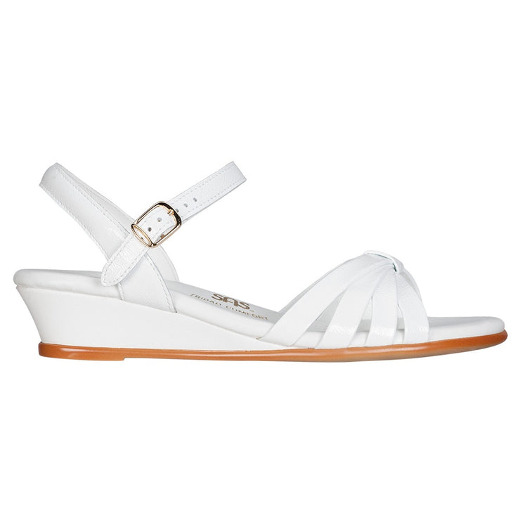 sas womens dress sandal strippy white patent