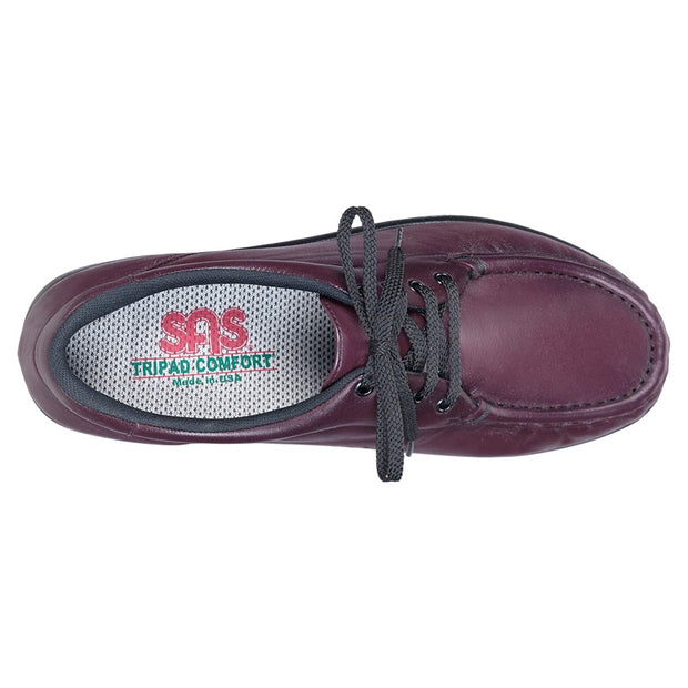 sas womens wide comfort moccasin take time antique wine