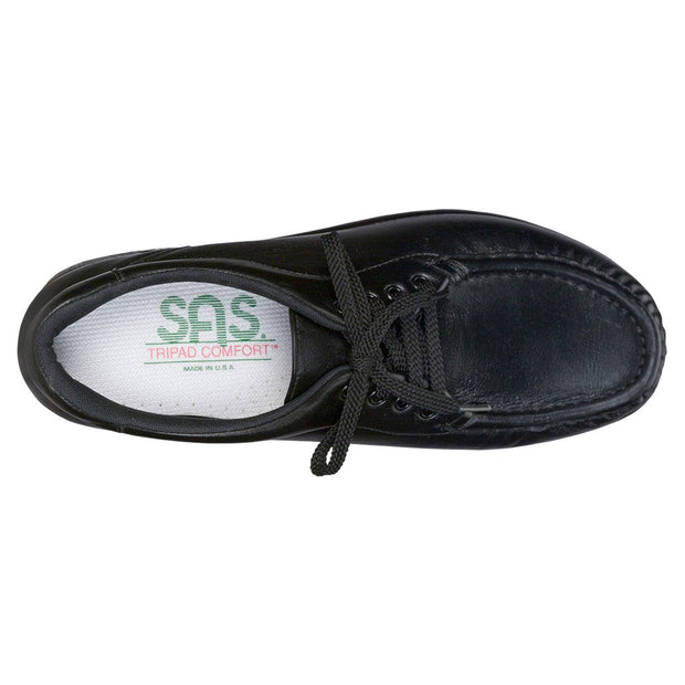 sas womens wide comfort moccasin take time black