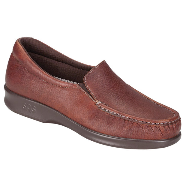 sas womens deep slip on moccasin twin mulch