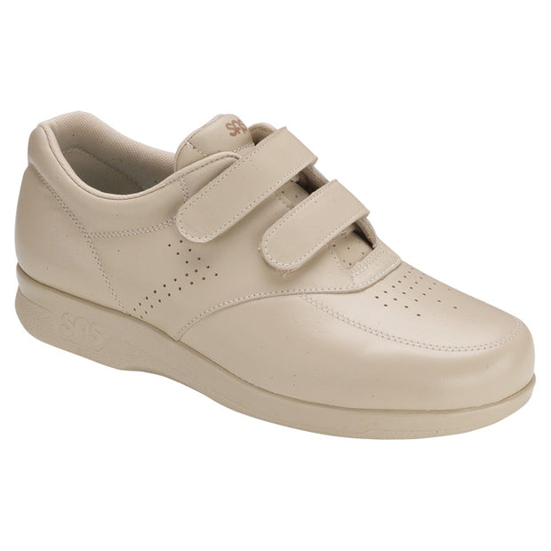 sas mens velcro diabetic walking shoe vto beige
