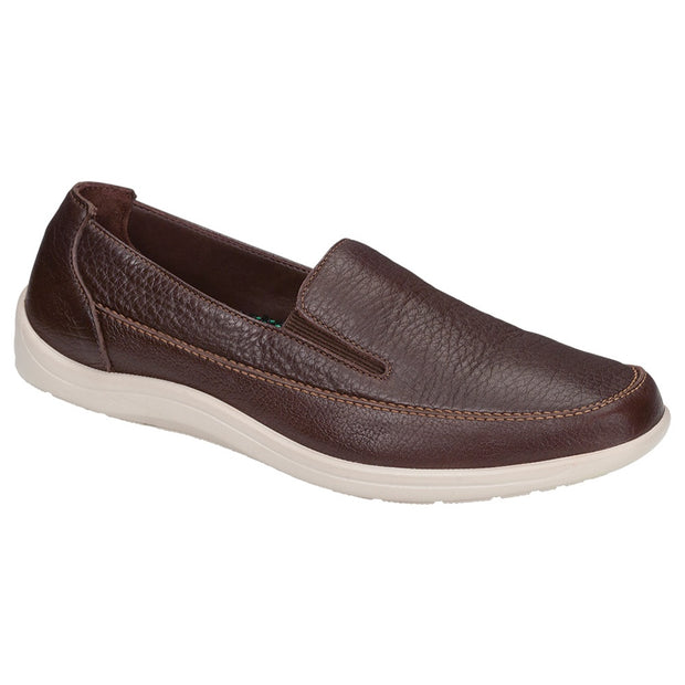 sas mens slip on leather shoe weekender oporto