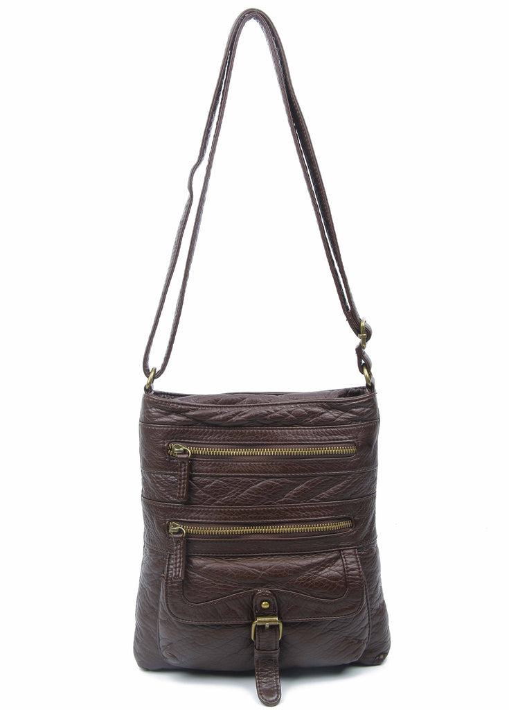 The Danni Crossbody - Chocolate Brown - Ampere Creations