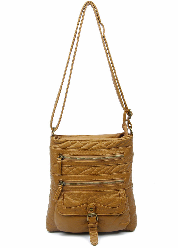 The Danni Crossbody - Light Brown - Ampere Creations