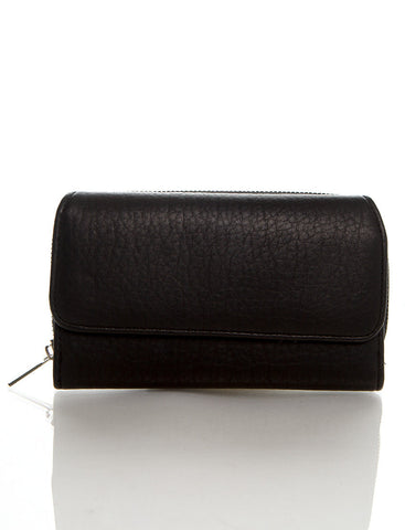 Zip Around Continental Wallet - Black - Ampere Creations