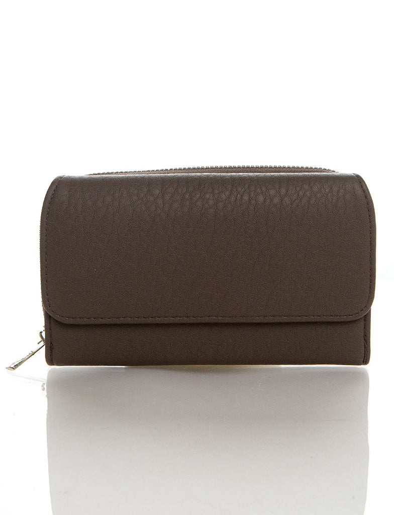 Zip Around Continental Wallet - Dark Silver - Ampere Creations