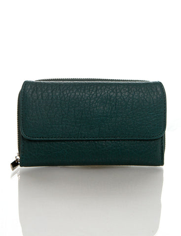 Zip Around Continental Wallet - Green - Ampere Creations
